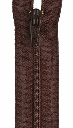 All-Purpose Polyester Coil Zipper 9in Cherry Brown