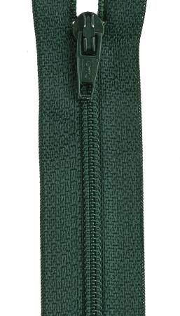 All-Purpose Polyester Coil Zipper 12in Forest Green