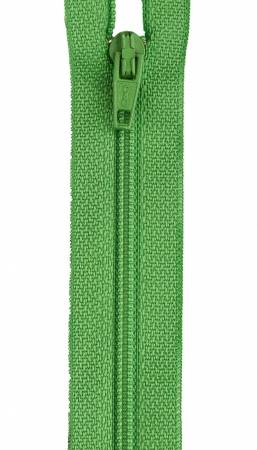 All-Purpose Polyester Coil Zipper 14in Bright Green