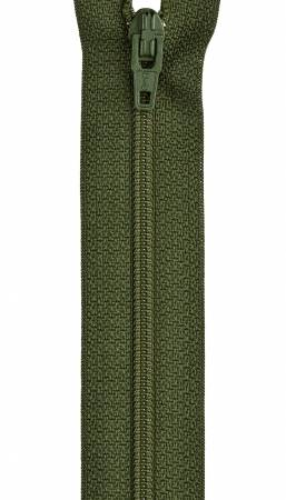 All-Purpose Polyester Coil Zipper 14in Spinach