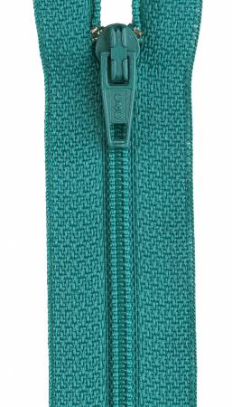 All-Purpose Polyester Coil Zipper 14in Blue Turquoise