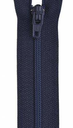 All-Purpose Polyester Coil Zipper 18in Navy