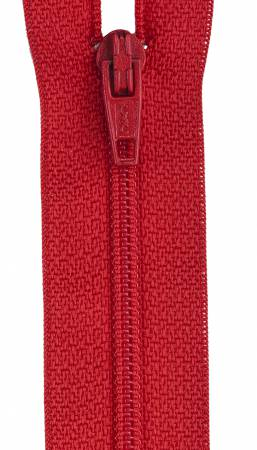 All-Purpose Polyester Coil Zipper 18in Atom Red