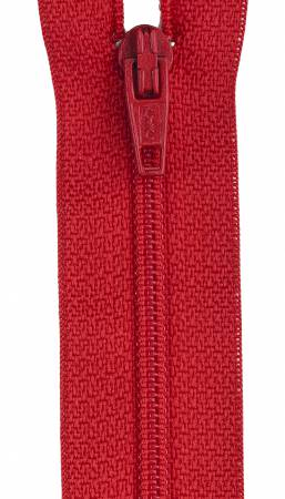All-Purpose Polyester Coil Zipper 20in Atom Red