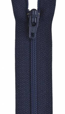 All-Purpose Polyester Coil Zipper 22in Navy