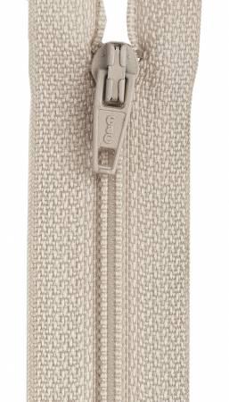 All-Purpose Polyester Coil Zipper 22in Ecru