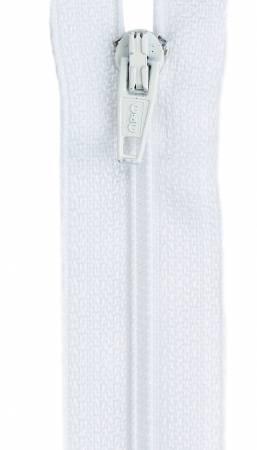 All-Purpose Polyester Coil Zipper 24in White
