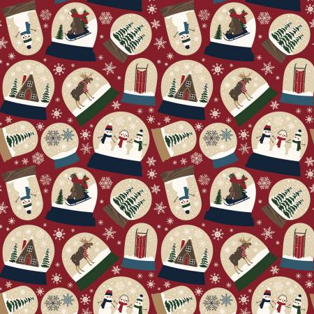 Let It Snow Main Red Flannel by Riley Blake