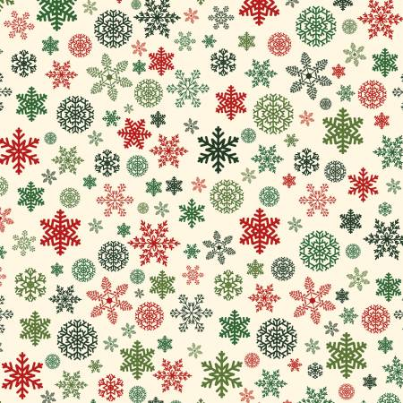 Christmas Delivery Cream Snowflakes