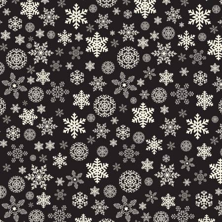 Designer Flannel, Christmas Snowflakes Green