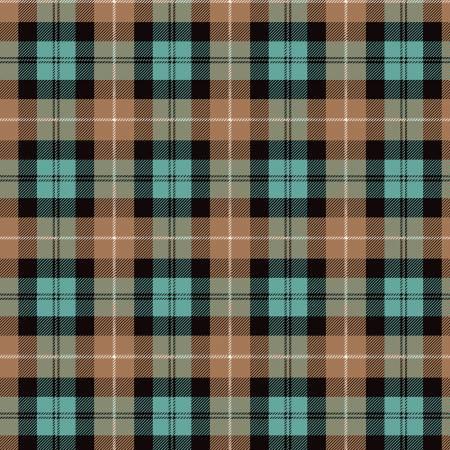 Designer Flannel, Plaid Color Brown-Black