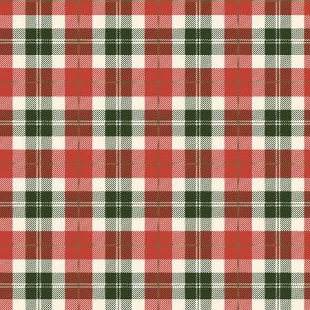 Designer Flannel, Plaid Color Red-Green
