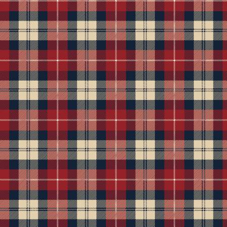 Riley Blake Designer Flannel Plaid Color Red-Navy