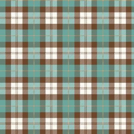 Designer Flannel, Plaid Color Teal-Brown