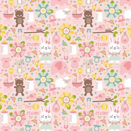 Flannel Sweet Baby Girl Main Pink F8210 *20