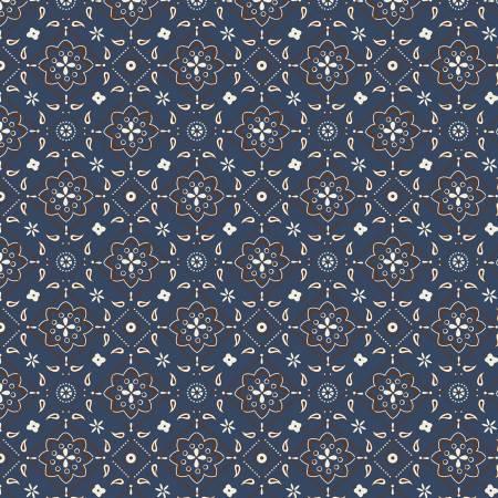 Designer Flannel Cowboy Bandana Blue