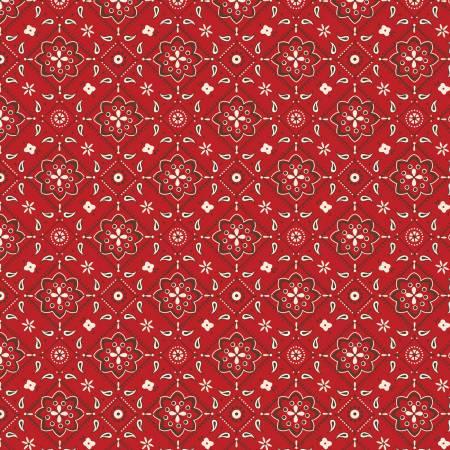 Cowboy Flannel<br>Bandana Red - F8219R-RED