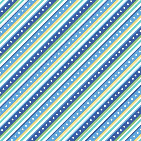 Blue Diagonal Stripe Flannel