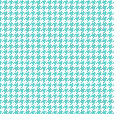 White/Teal Houndstooth Flannel