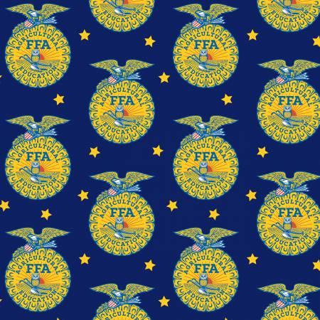 Designer Flannel Ffa Emblem Blue