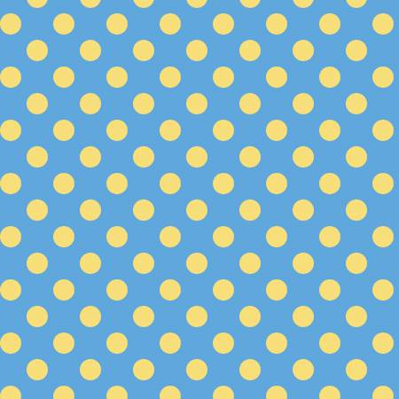 Dots Flannel Blue/Yellow