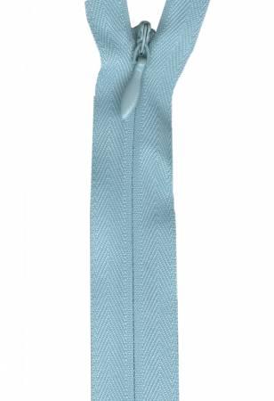 Zipper 12-14in Ciel Invisible Poly