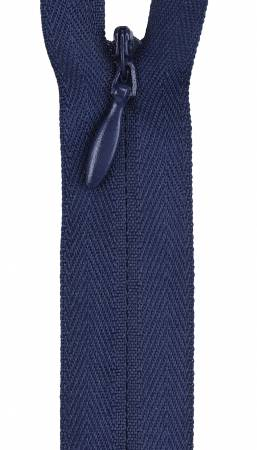 Zipper 12-14in Navy Invisible Polyester