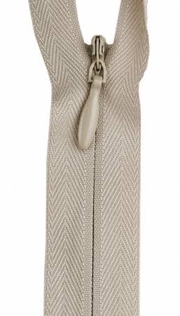 Zipper 12-14in Ecru Invisible Polyester