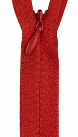 Zipper 12-14in Atom Red Invisible Polyester
