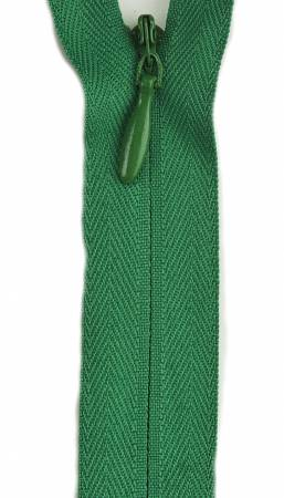 Invisible Polyester Zipper 22in Kerry Green