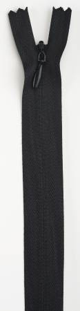 Invisible Polyester Zipper 22in Black