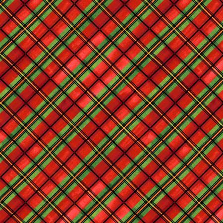Red Plaid Bias 2-ply Flannel