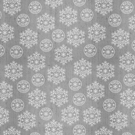 Grey Snowflake on Texture Flannel