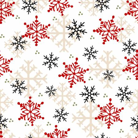 Timber Gnomies -  Multi Snowflake -  Flannel