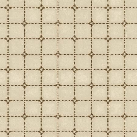 Cream/Brown Shirting Plaid Flannel