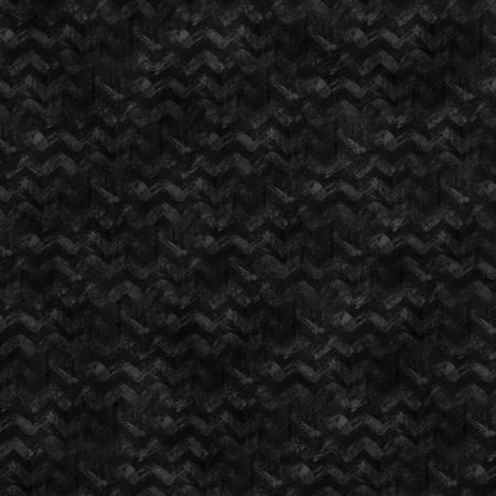 Winter Elegance Black Textured Chevron Flannel