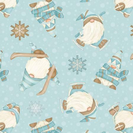 I Love Sn'Gnomies Flannel - Aqua Skiing Gnomes Flannel