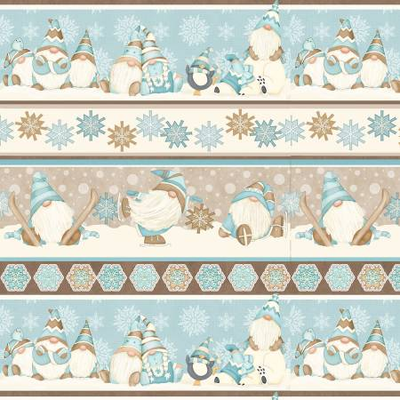 I Love Sn'Gnomies Multi Gnome Novelty Stripe Flannel
