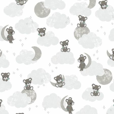 Sleep Tight Main Flannel - White