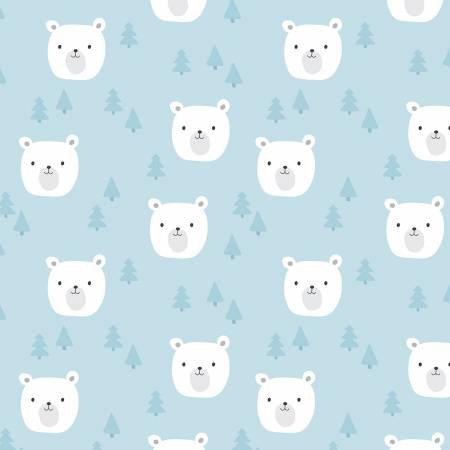 Designer Flannel Baby Bears Blue