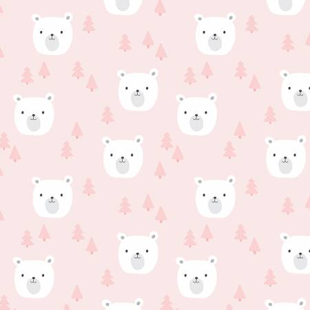 Designer Flannel Baby Bears Pink