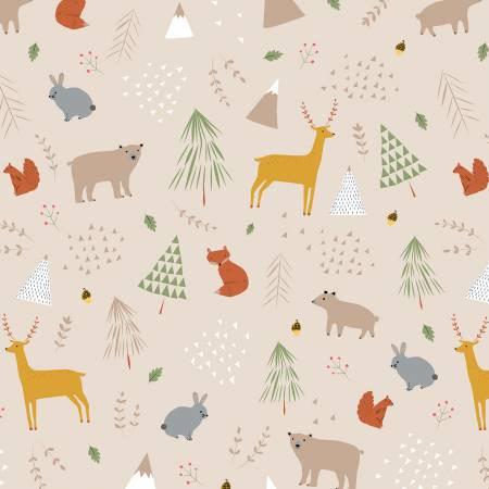 Designer Flannel Forest Main Tan