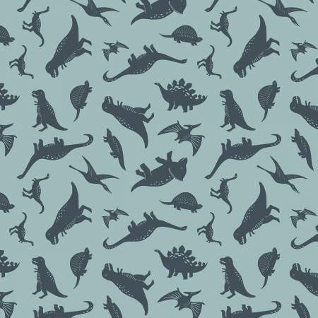 Designer Flannel Fossil Rim Dinos Blue