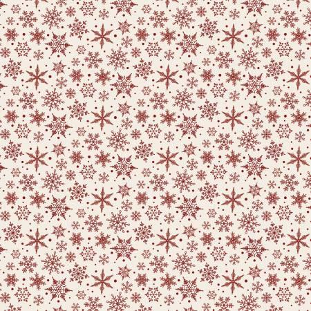 Designer Flannel Snowflakes Cream