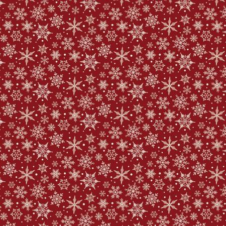 Designer Flannel Snowflakes Red