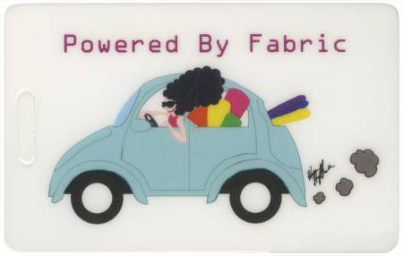 Powered By Fabric Luggage Tag