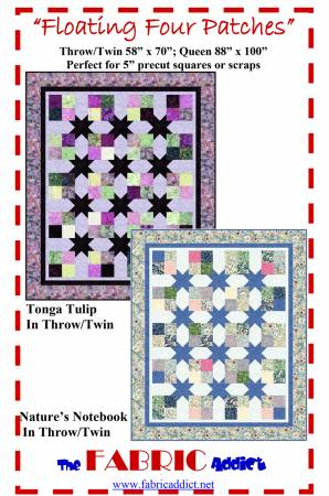Floating Four Patches Quilt Kit - Tonga Tulip