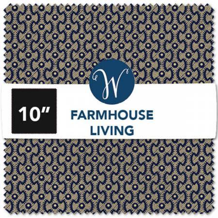 10in Squares Farmhouse Living 42pcs