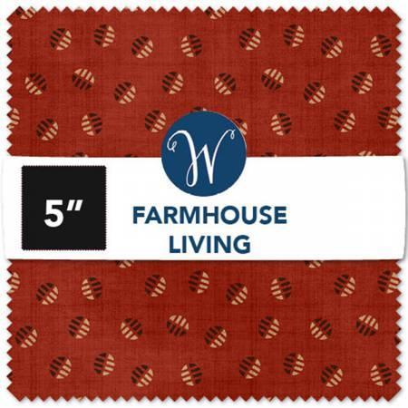 5in Squares Farmhouse Living 42pcs/bundle