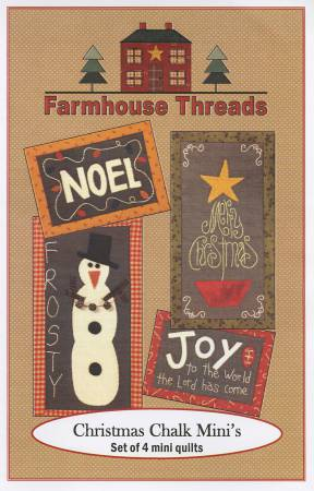 Christmas Chalk Mini's Pattern by Farmhouse Threads #953+